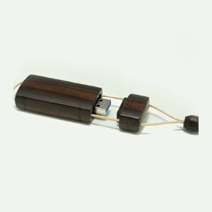 USBメモリーペンダントケース(黒檀)