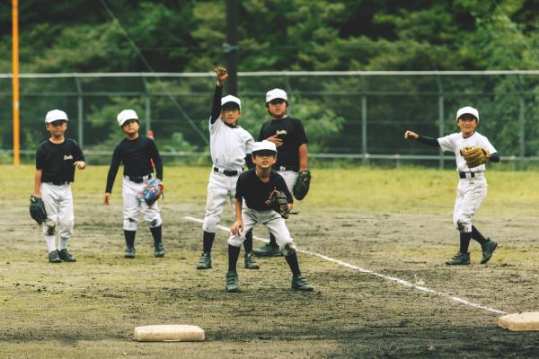 学童野球チーム「上野フォレストキング」練習の様子