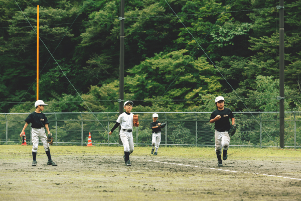 上野村 学童野球チーム「上野フォレストキング」練習の様子
