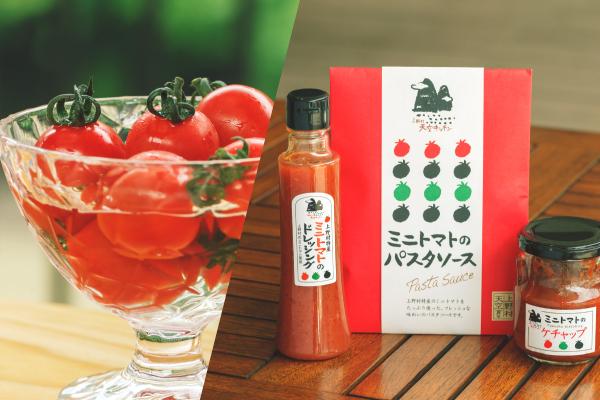 村で栽培しているミニトマト